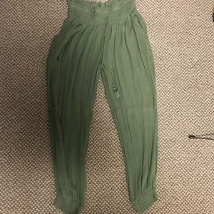 Aerie olive green joggers